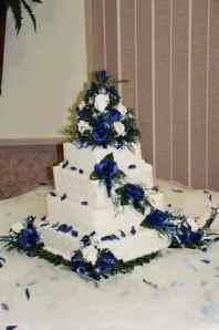 no.33000swedding-cake-decorations-navy-square-cake